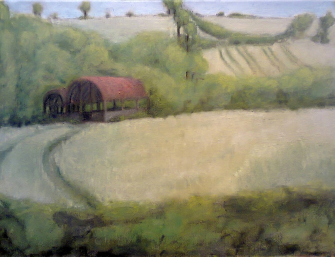 'A red barn'